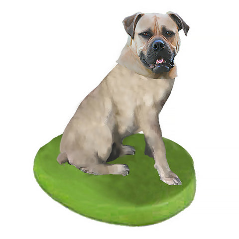 Custom Pet Dog Bobblehead - Bull Mastiff White Fawn