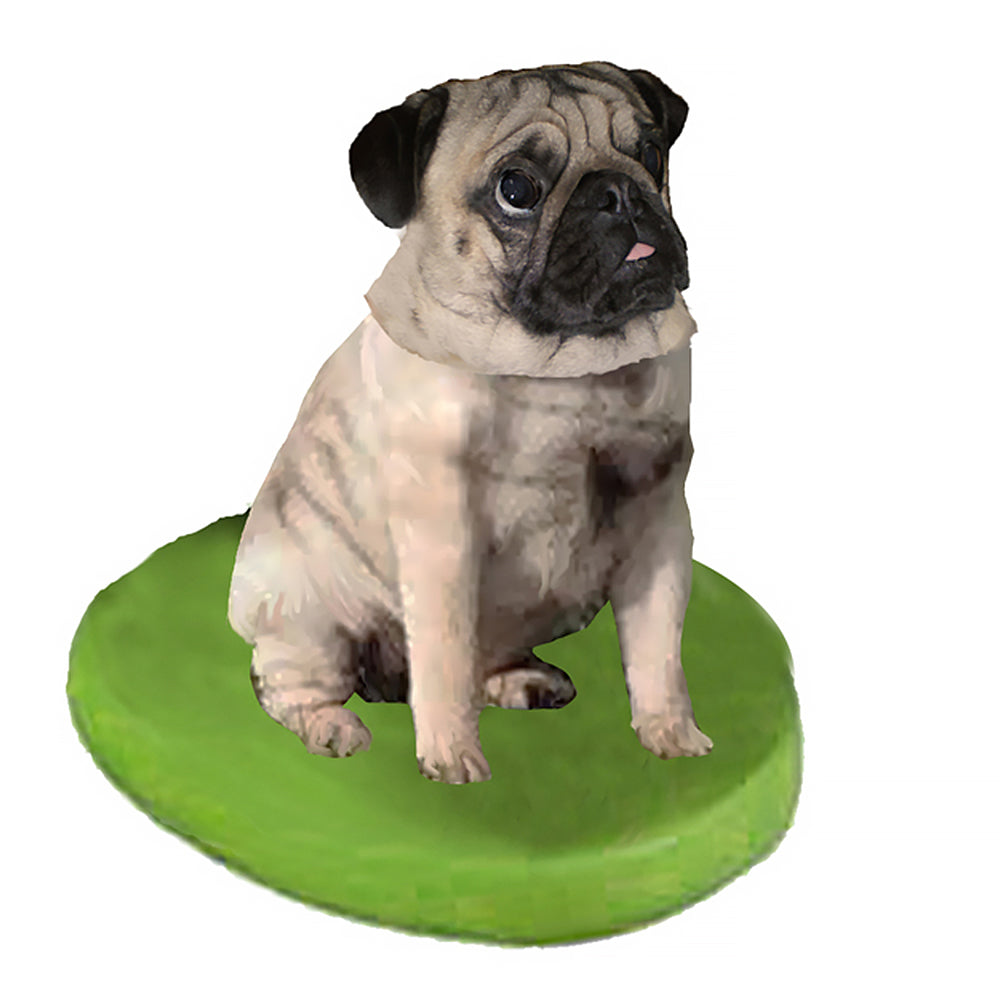 Custom Pet Dog Bobblehead - Pug Fawn