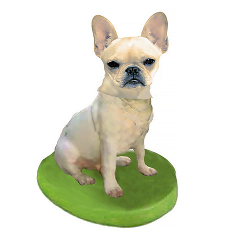Custom Pet Dog Bobblehead - French Bulldog Fawn
