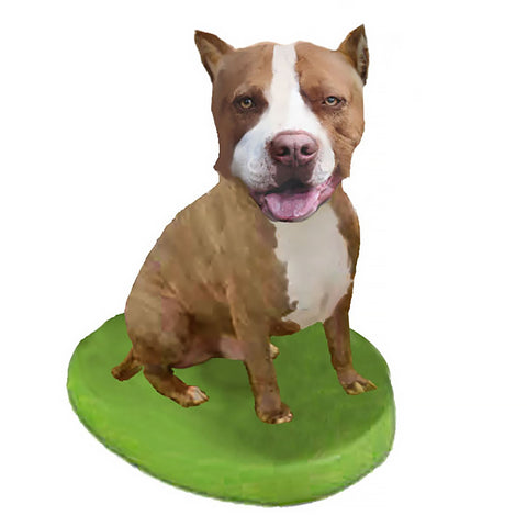 Custom Pet Dog Bobblehead - Pit Bull Brown