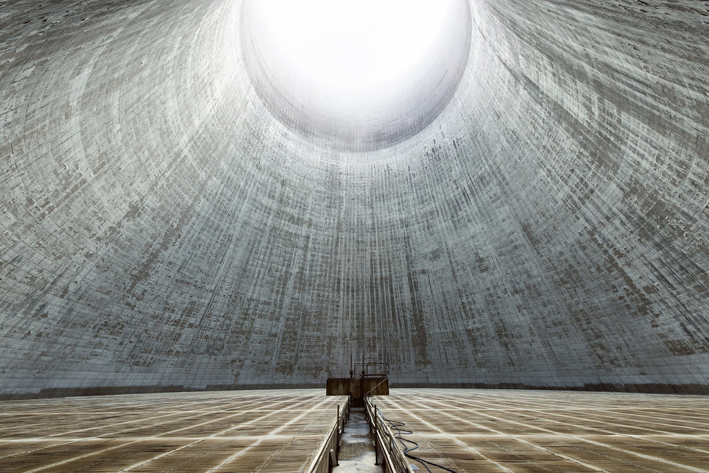Want to feel small? Step inside an abandoned cooling tower
