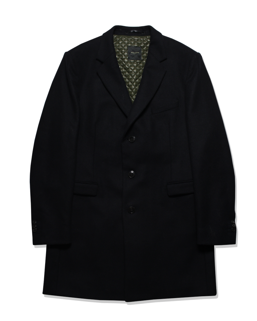 Black Cash Overcoat - Holland Esquire