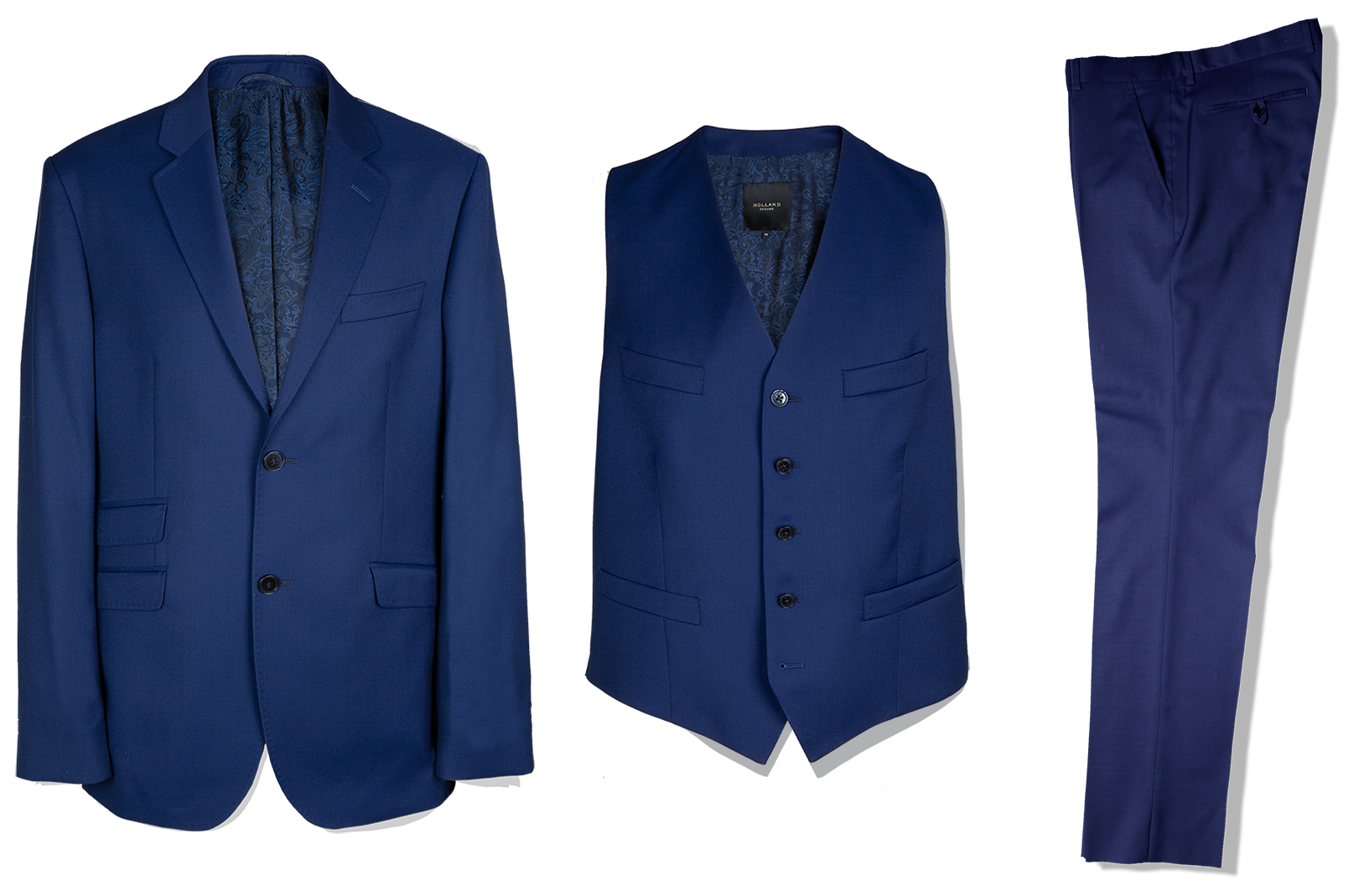 3 Piece Suit in Royal Panama - Holland Esquire