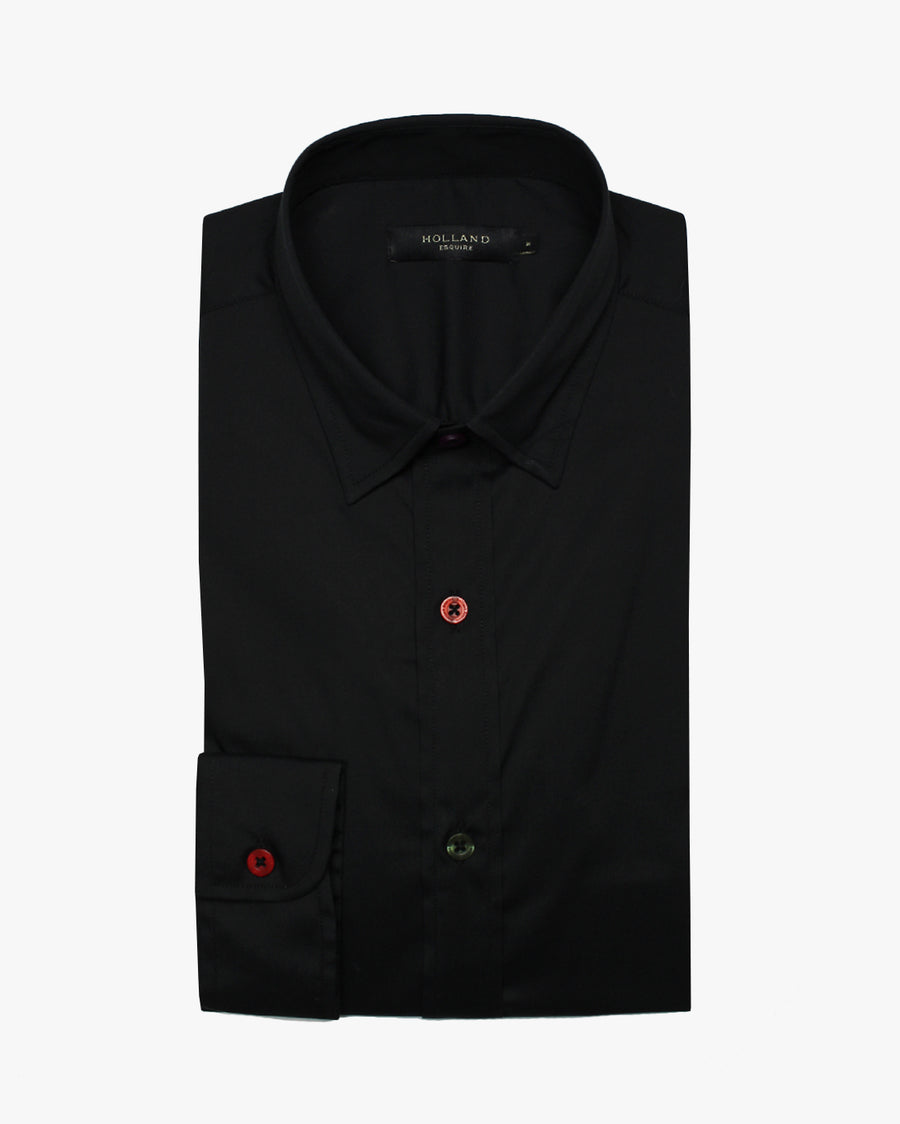 Black Slim Fit Shirt - Holland Esquire