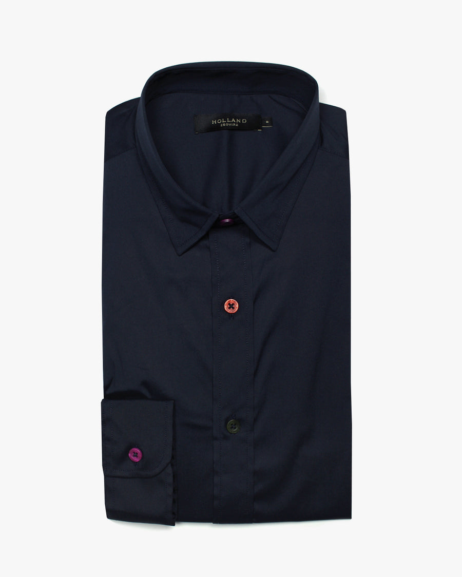 Navy Slim Fit Shirt - Holland Esquire