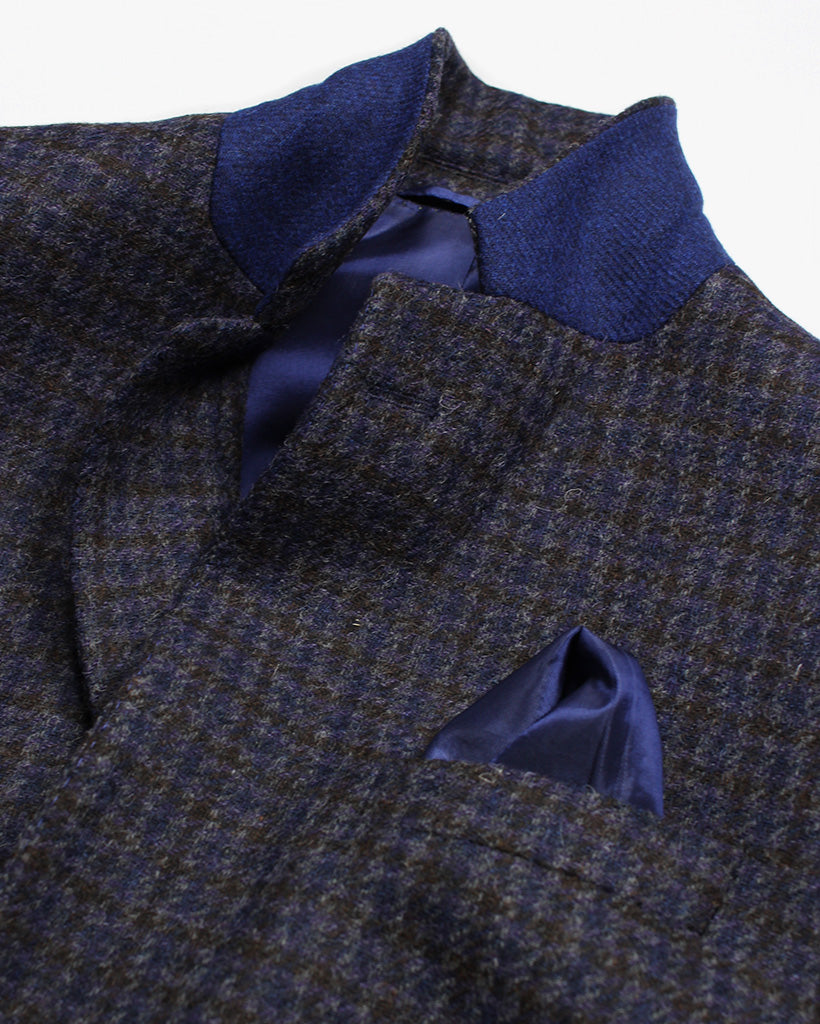 Navy Check Reginald Jacket - Holland Esquire