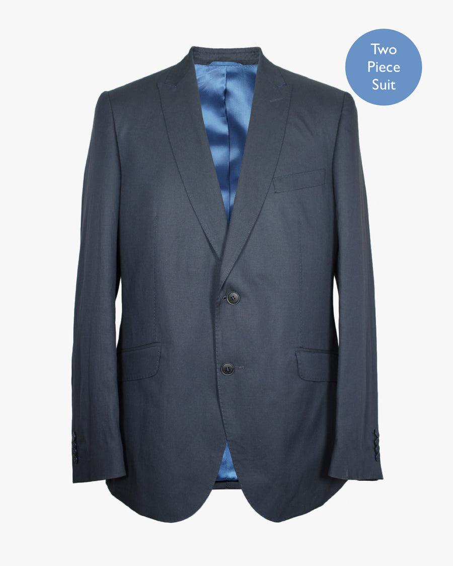 Blue Brushed 2 Piece Suit - Holland Esquire