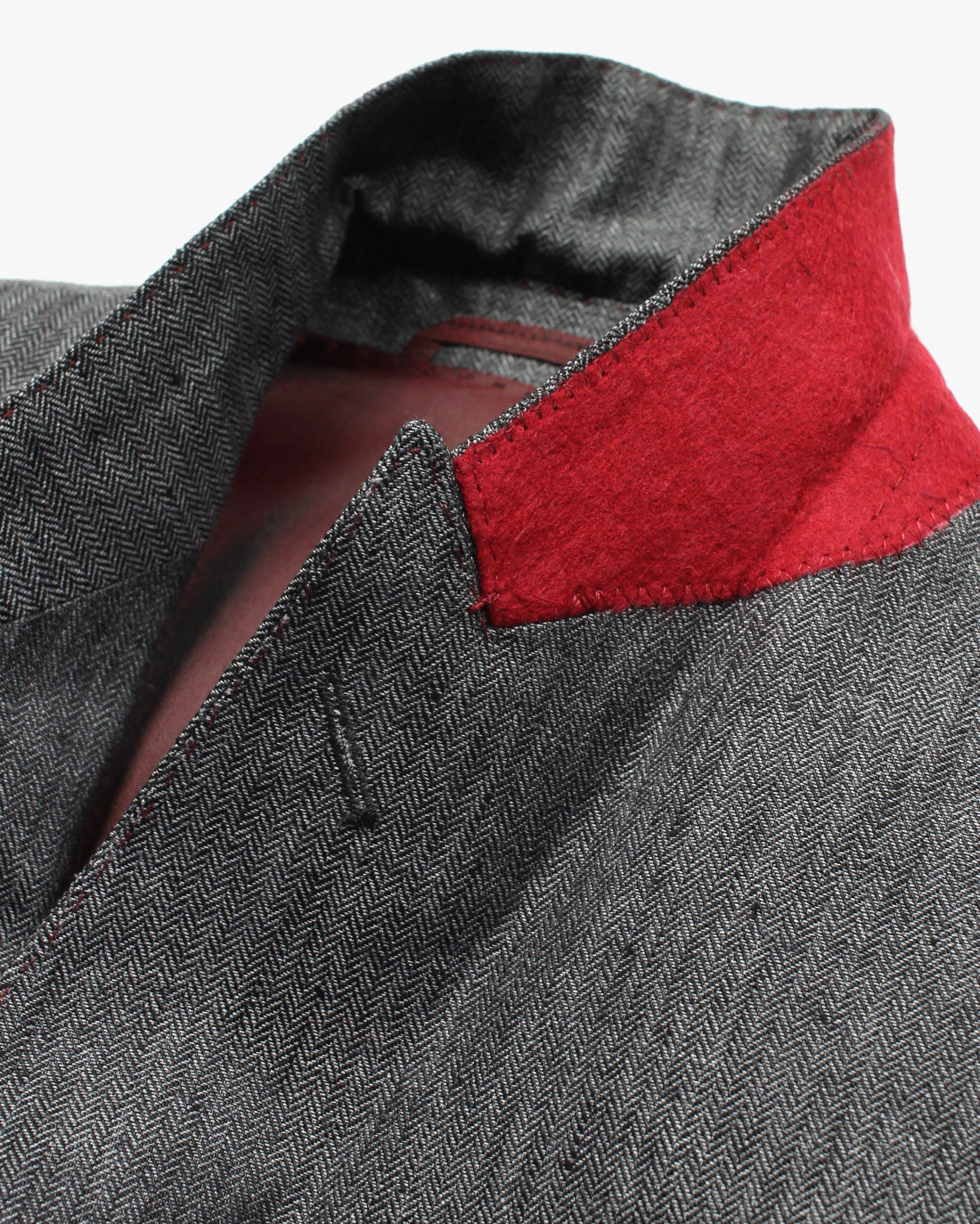 Charcoal Herringbone 2 Piece Suit - Holland Esquire