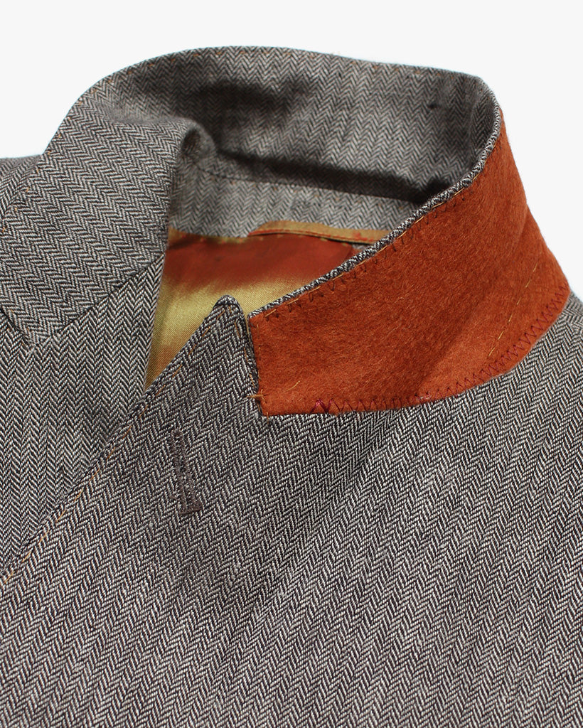 Brown Herringbone 2 Piece Suit