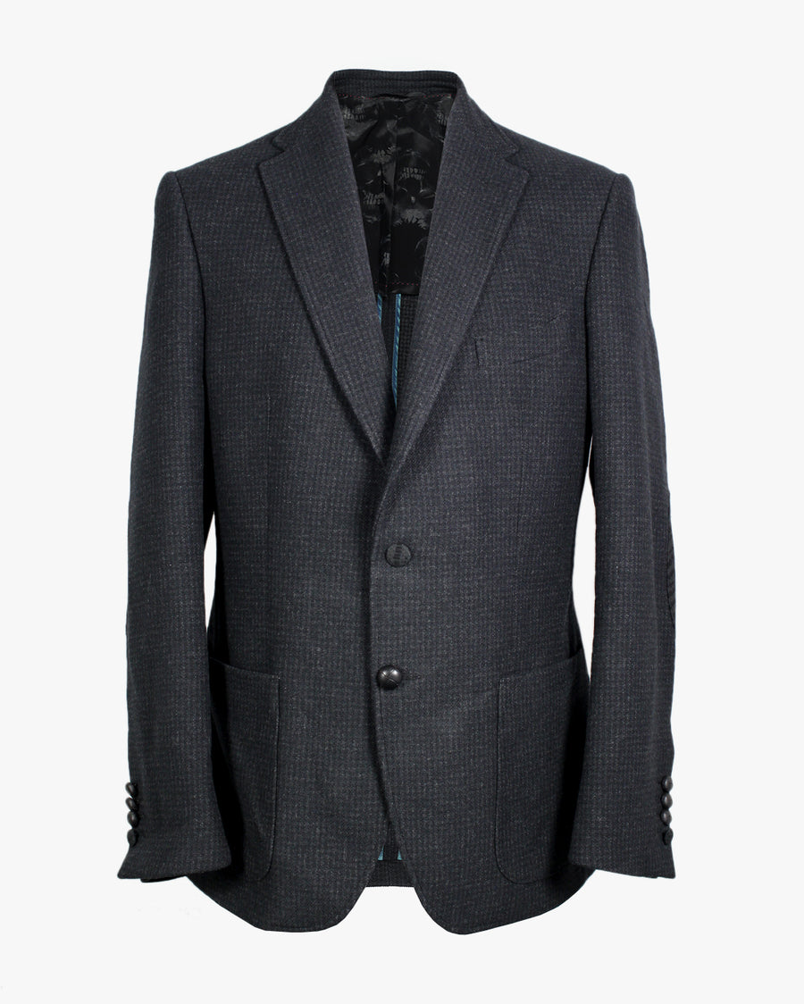 Charcoal Houndstooth Bertie Jacket