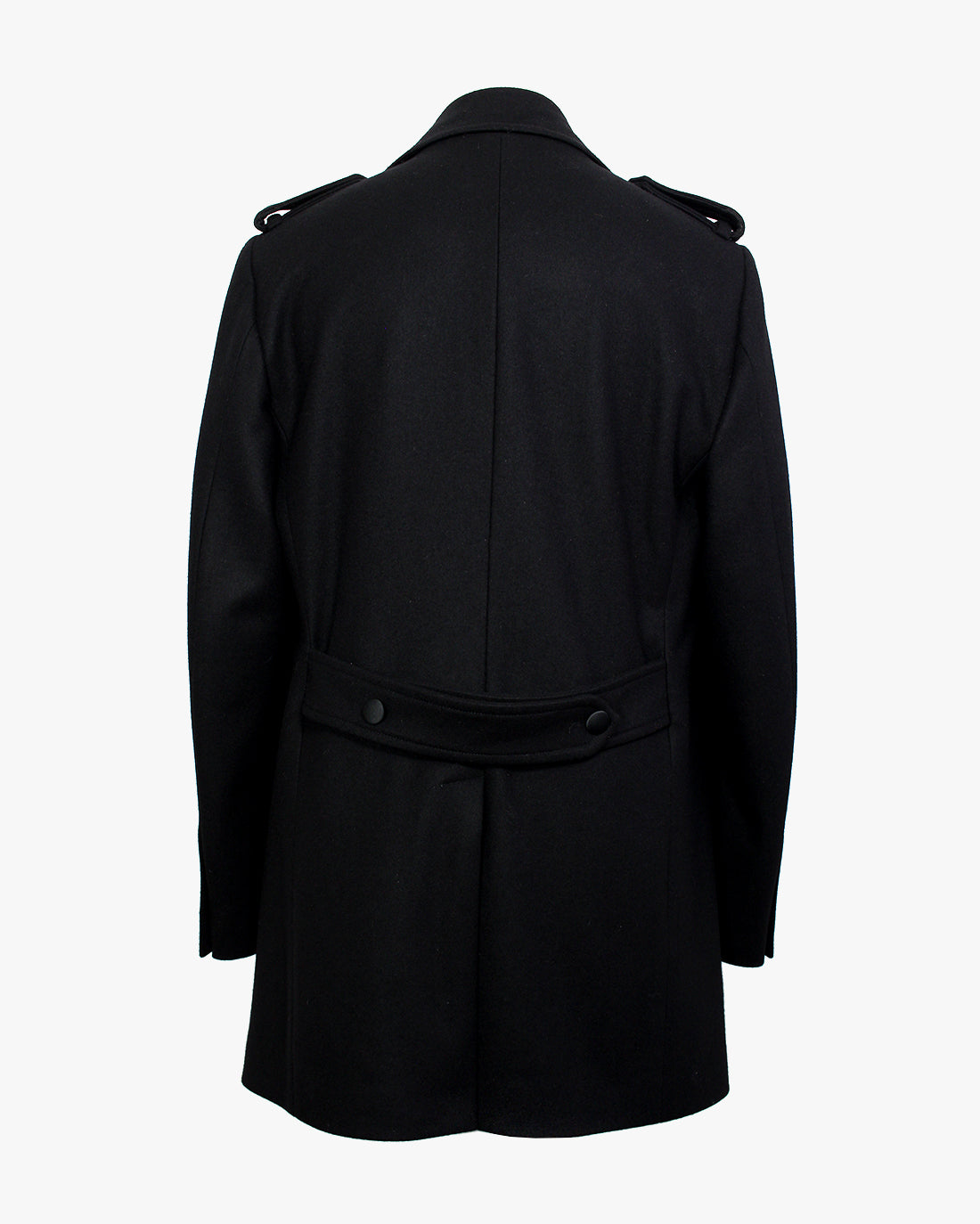 Black Melton Peacoat - Holland Esquire