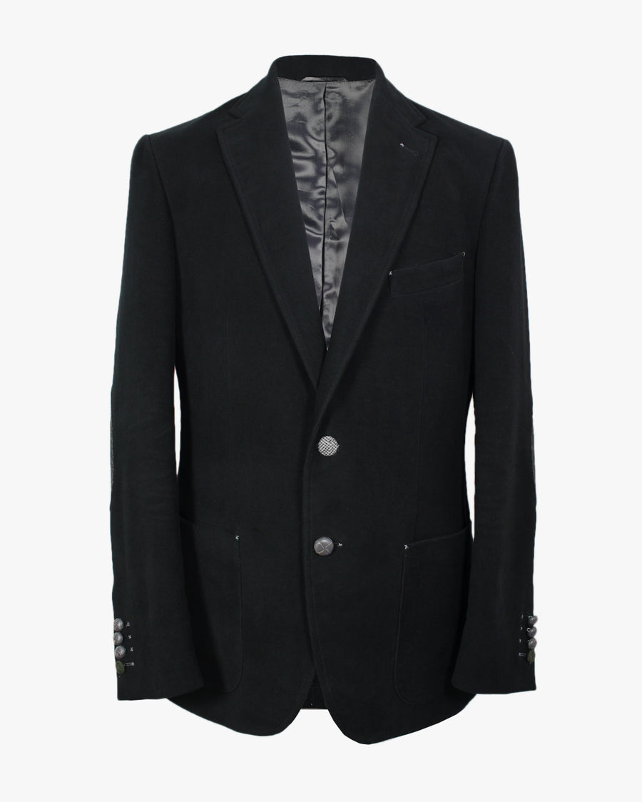 Black Moleskin Bertie Jacket - Holland Esquire