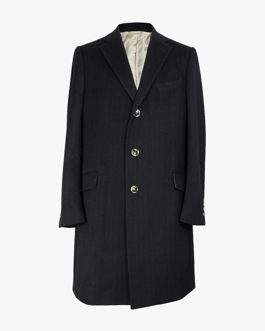 Black Pinstripe SB3 Overcoat
