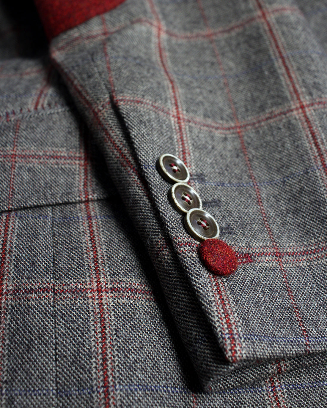 Brown and Red Windowpane Reginald Jacket