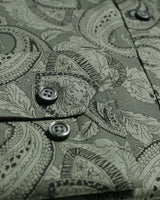 Grey Liberty Paisley Button Under Shirt - Holland Esquire