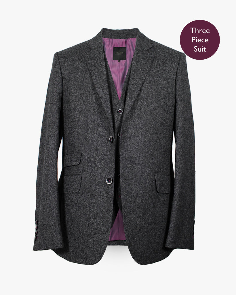 Charcoal Donegal Three Piece Suit - Holland Esquire