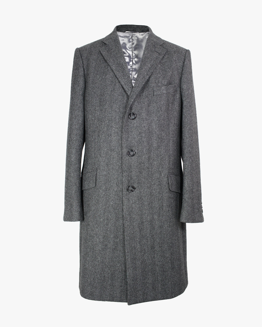 Charcoal Herringbone SB3 Overcoat