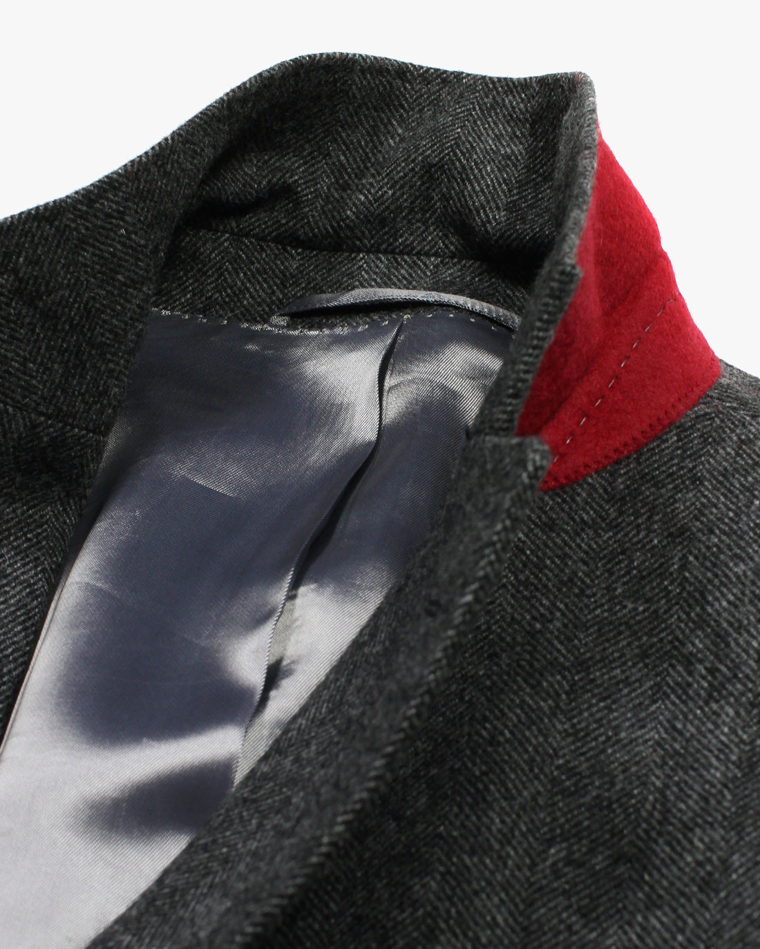Charcoal Herringbone SB3 Overcoat - Holland Esquire