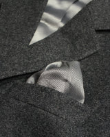 Charcoal Plain Lambswool Three Piece Suit - Holland Esquire