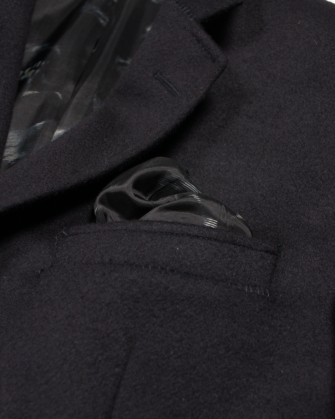 Dark Navy Cash Flannel Reginald Jacket - Holland Esquire