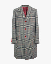 Black & White Giant Prince Of Wales Check SB3 Overcoat