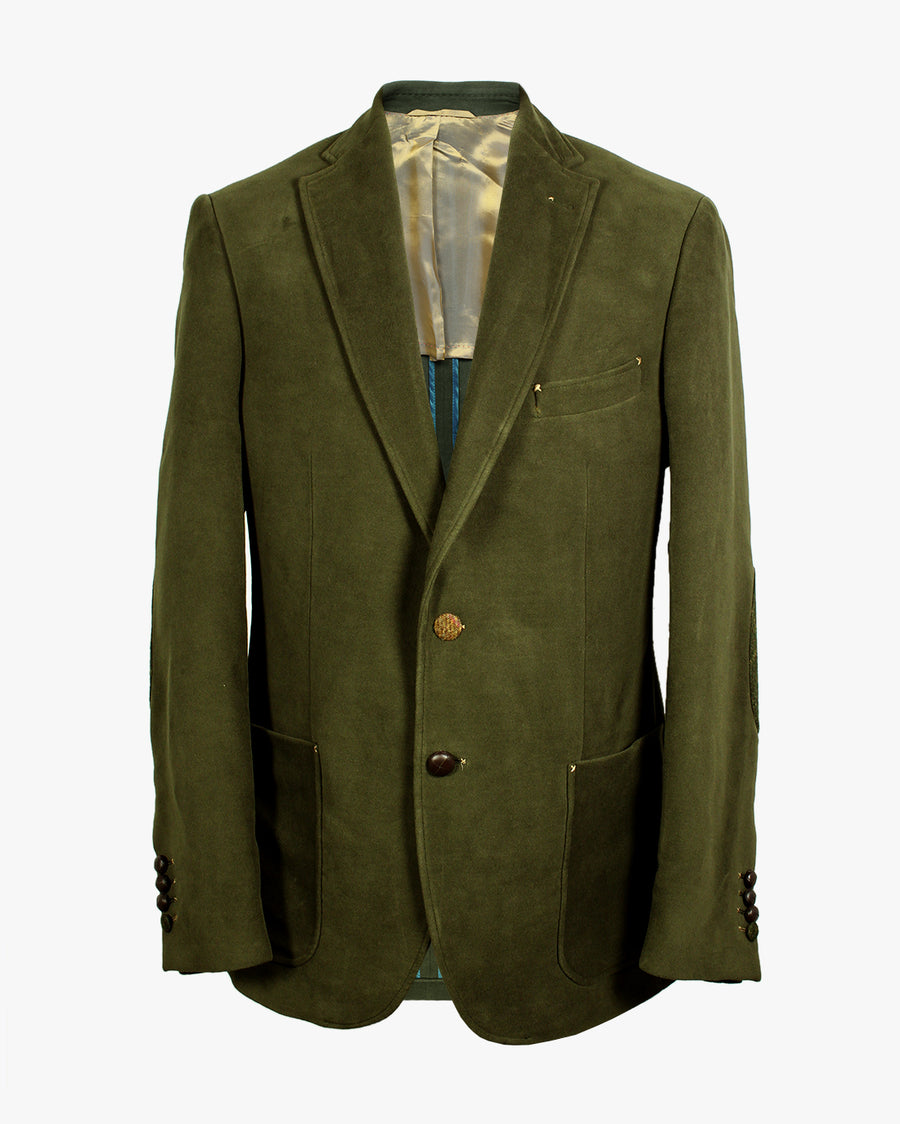 Green Moleskin Bertie Jacket - Holland Esquire