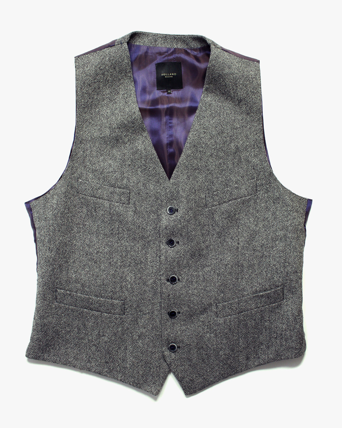 Grey Donegal Lambswool Three Piece Suit - Holland Esquire