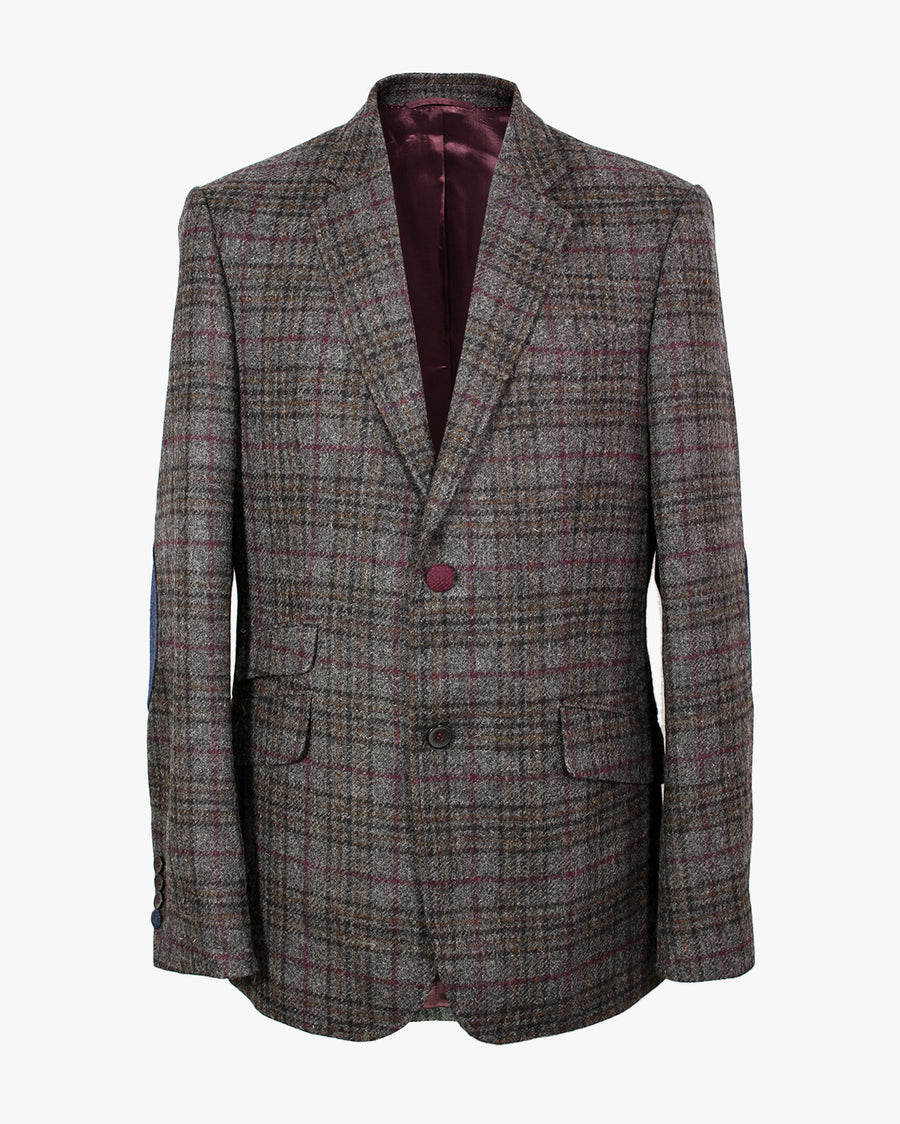 Grey Windowpane Overcheck Reginald Jacket