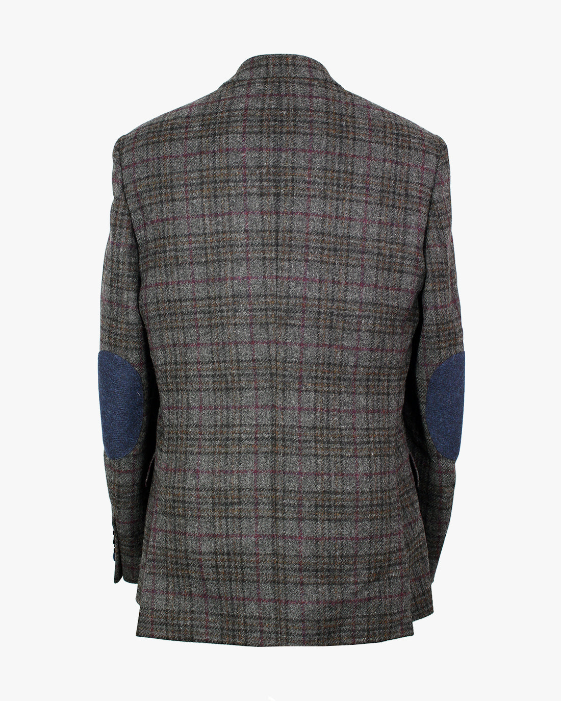 Grey Windowpane Overcheck Reginald Jacket - Holland Esquire