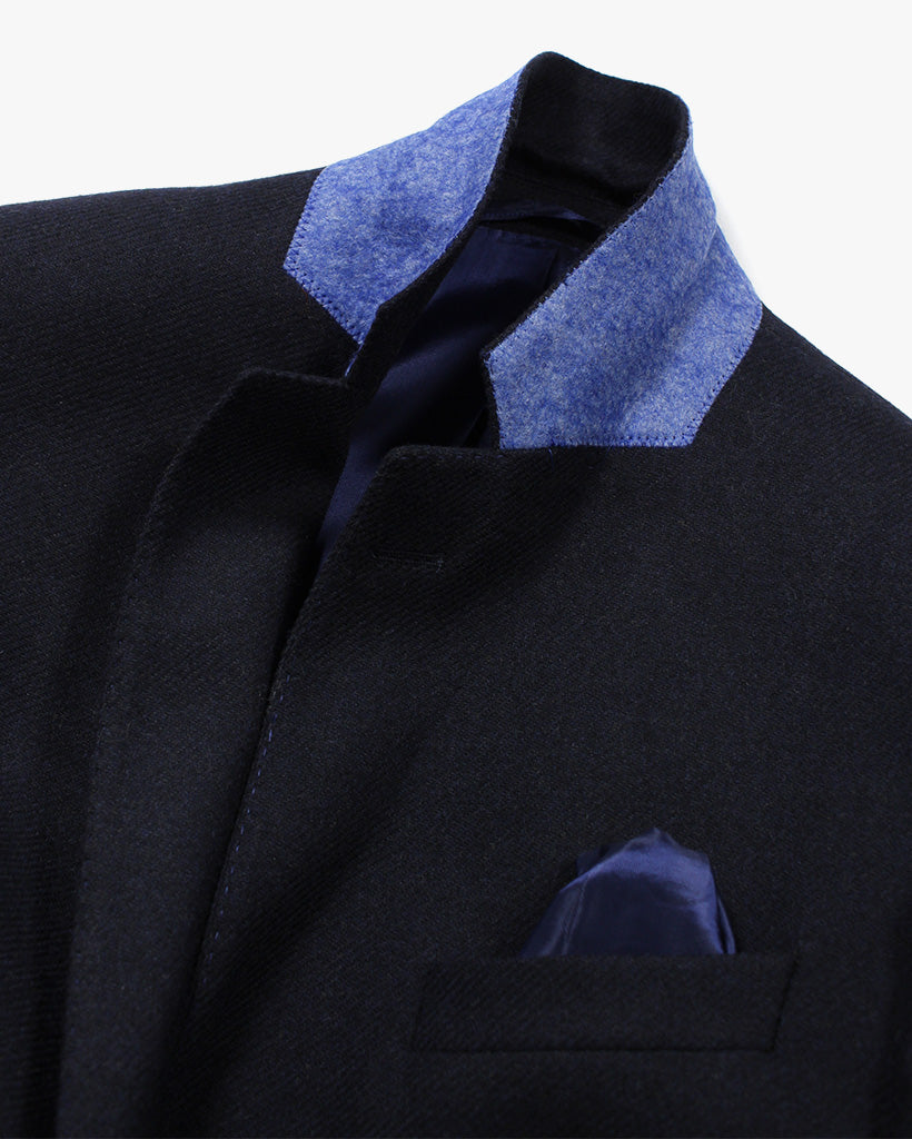 Navy Lambswool Three Piece Suit - Holland Esquire