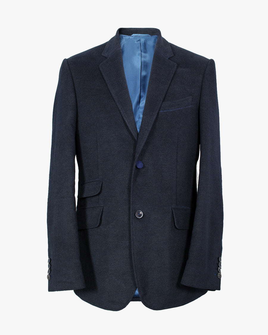 Navy Moleskin Twill Reginald Jacket - Holland Esquire