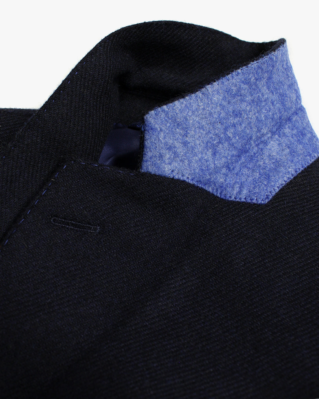 Navy Plain Lambswool Three Piece Suit - Holland Esquire