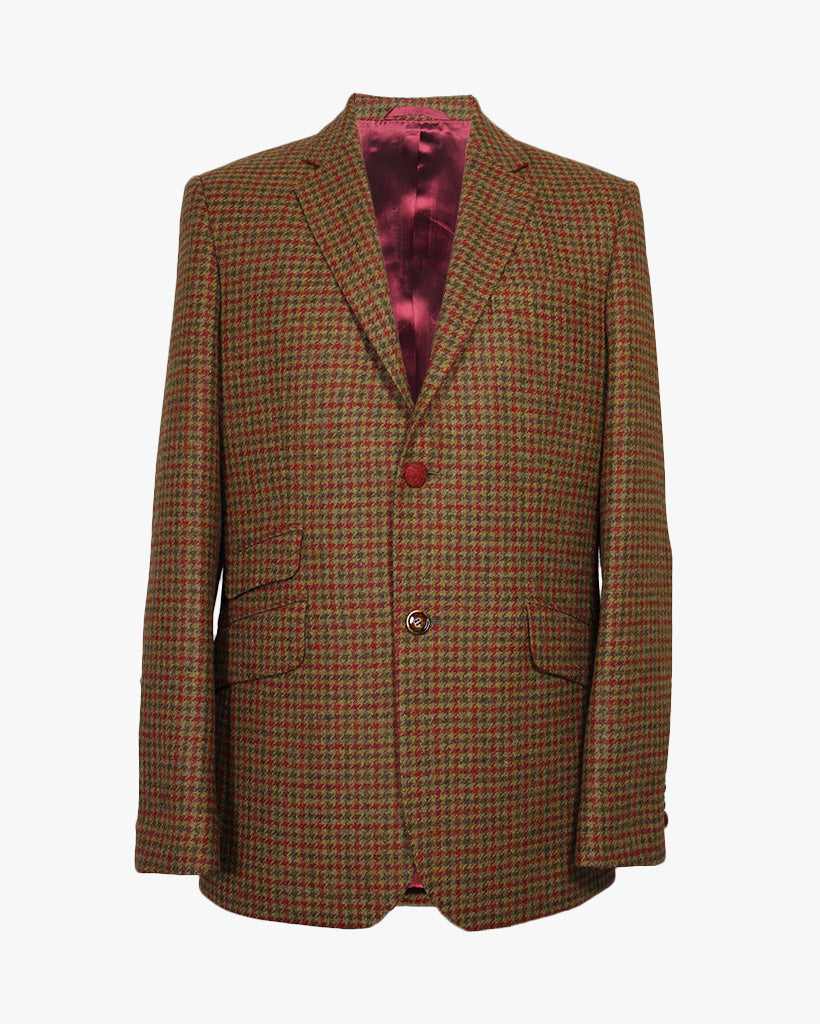 Orange Check Reginald Jacket - Holland Esquire