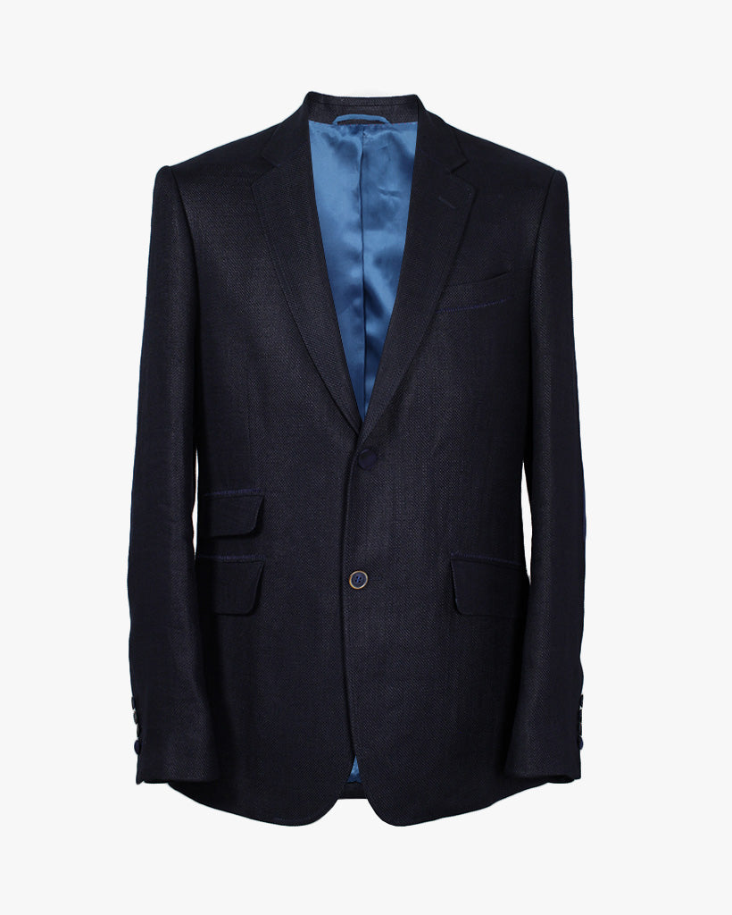Navy Basket Reginald Jacket - Holland Esquire