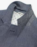 Blue Herringbone Reginald Jacket - Holland Esquire