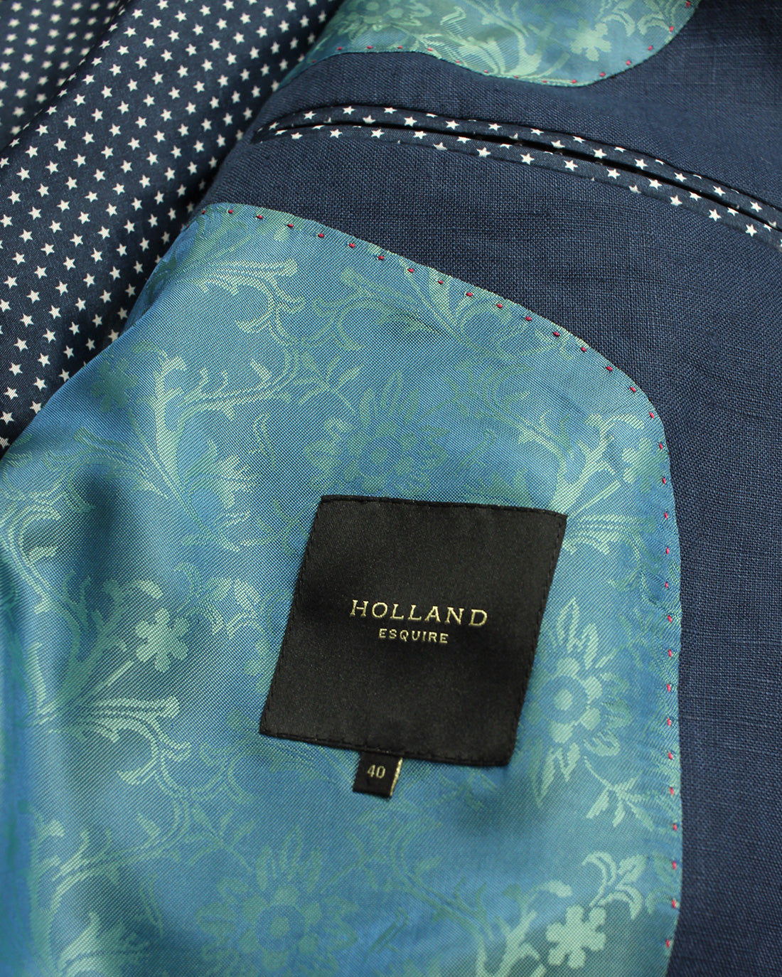 Blue Linen Reginald Jacket - Holland Esquire