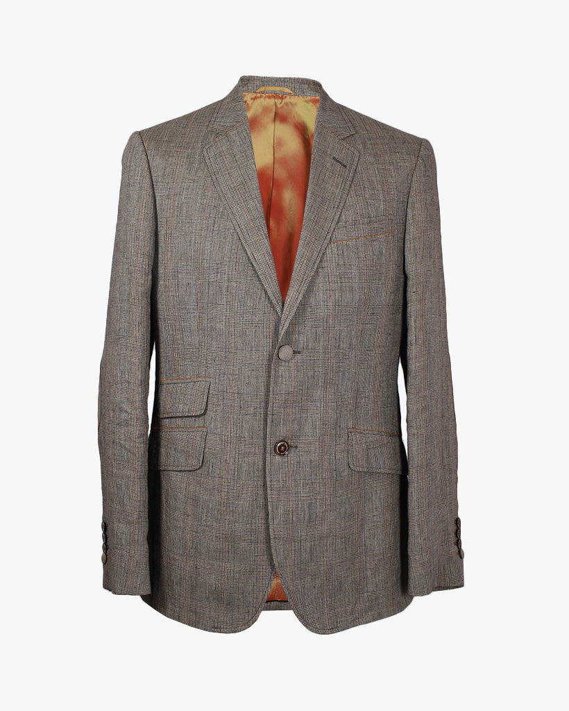 Brown Prince Of Wales Check Reginald Jacket - Holland Esquire