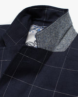 Navy Windowpane Reginald Jacket