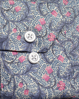 Powder Pink Liberty Flowers Button Under Shirt - Holland Esquire
