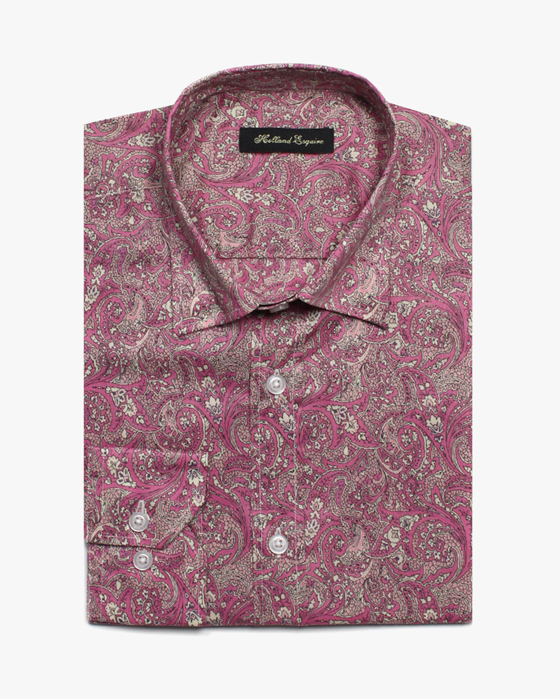Pink Liberty Paisley Button Under Shirt - Holland Esquire