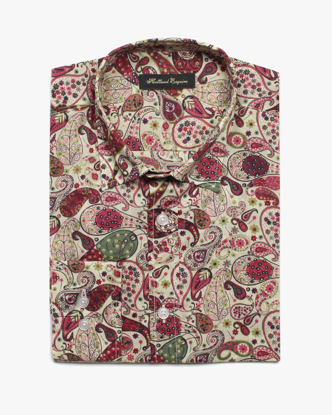 Multi Liberty Paisley Button Under Shirt - Holland Esquire
