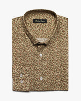 Sand Liberty Rabbit Food Button Under Shirt - Holland Esquire