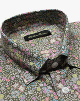 Grey Liberty Bouquet Button Under Shirt - Holland Esquire
