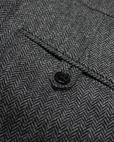 Slate Herringbone Three Piece Suit