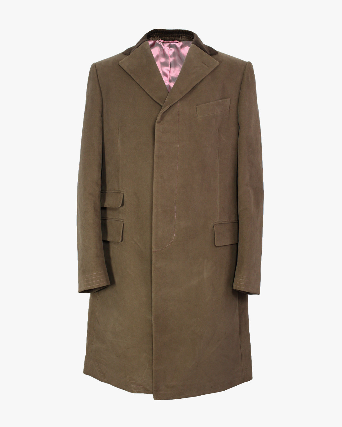 Tan Moleskin Covert Coat - Holland Esquire