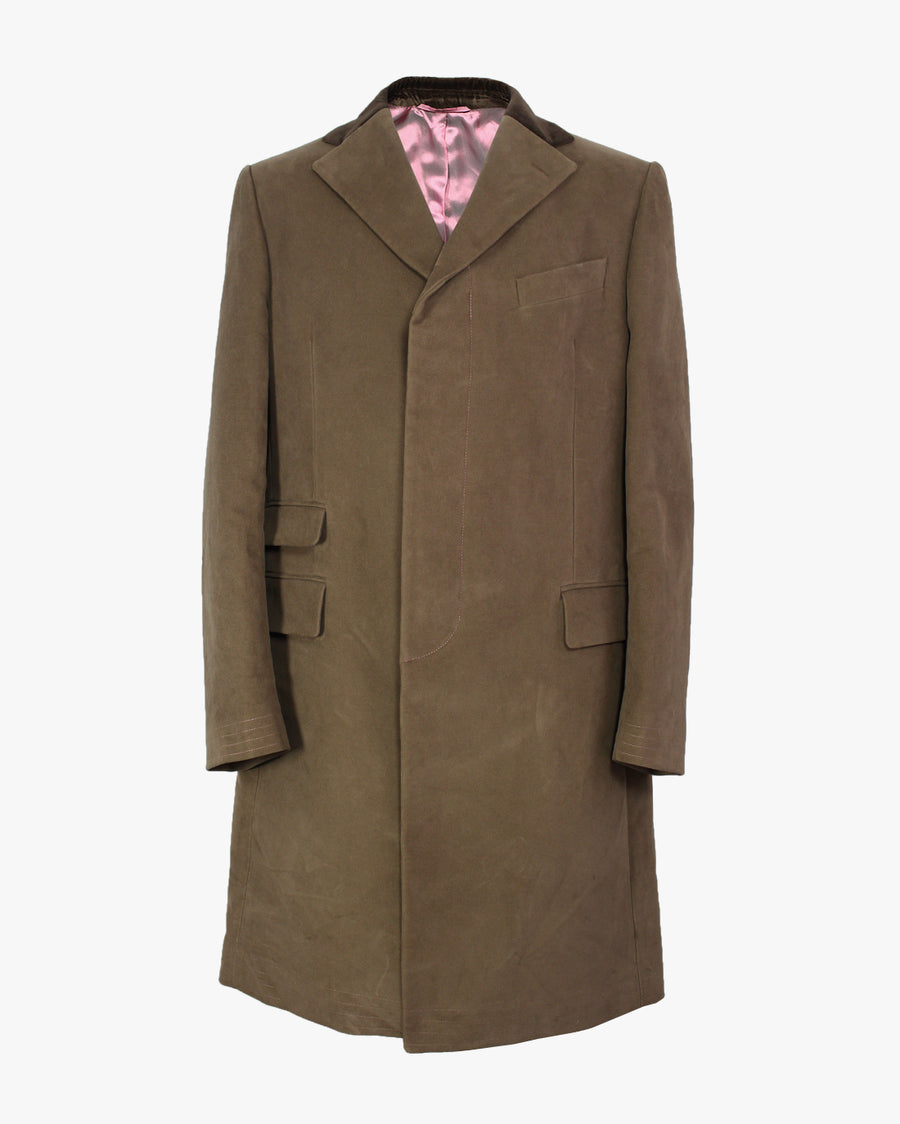 Tan Moleskin Covert Coat