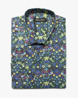 Blue Liberty Strawberry Theif Button Under Shirt - Holland Esquire