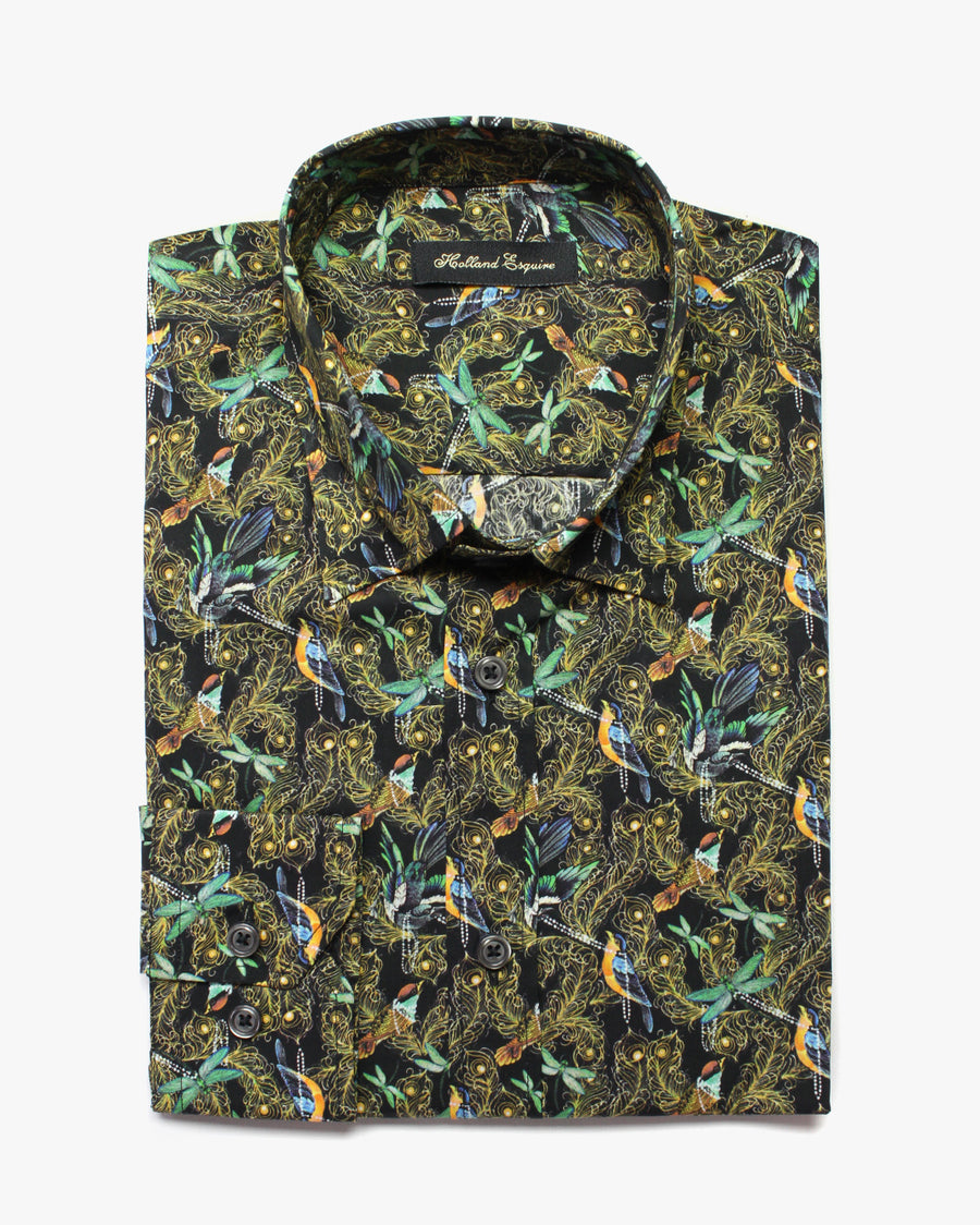 Black Liberty Birdy Button Under Shirt - Holland Esquire