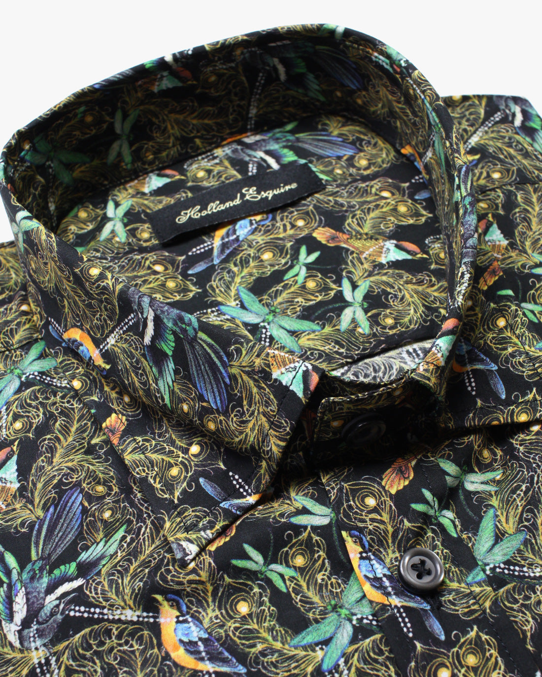Black Liberty Birdy Button Under Shirt