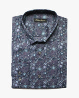 Navy Liberty Garden Button Under Shirt - Holland Esquire